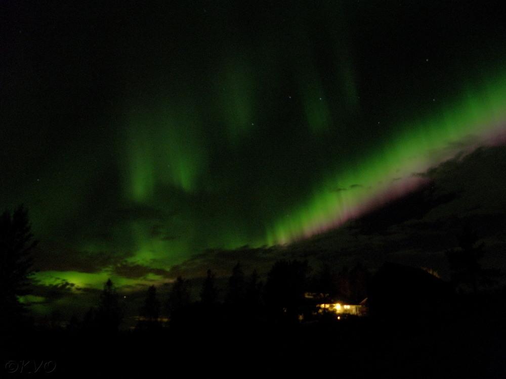 Nordlys over Berglund 19 09 2012